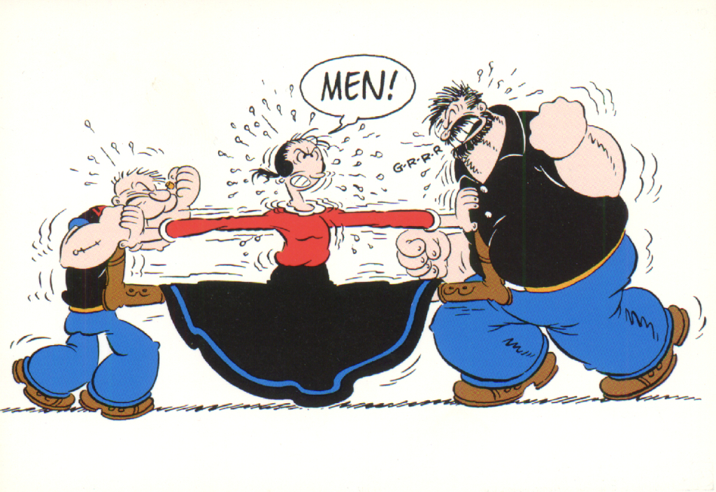 Photo By Postcard - Popeye - Fighting over Olive Oyl | Flickr - Photo Sharing!